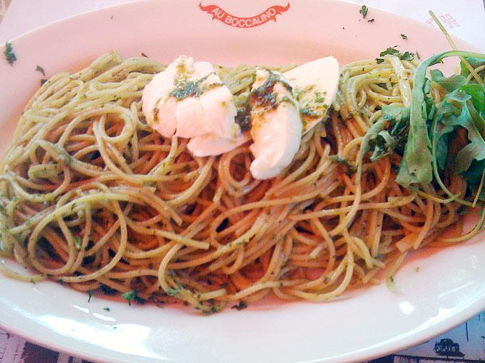 Boccalino - spaghetti pesto