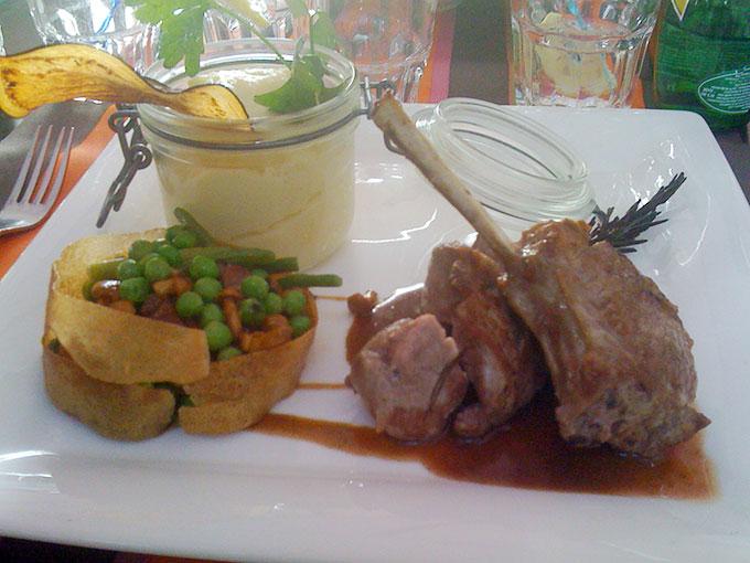 Café Papon - lamb chops