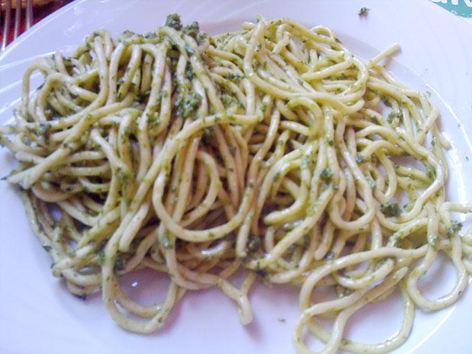 Point du Jour - pesto spaghetti