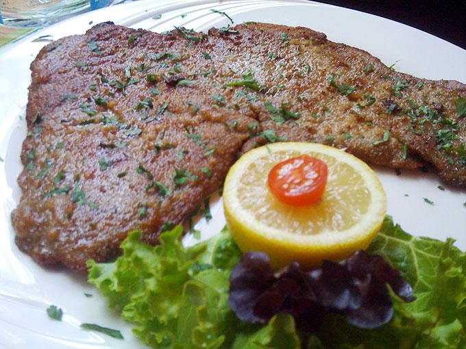 Point du Jour - veal schnitzel