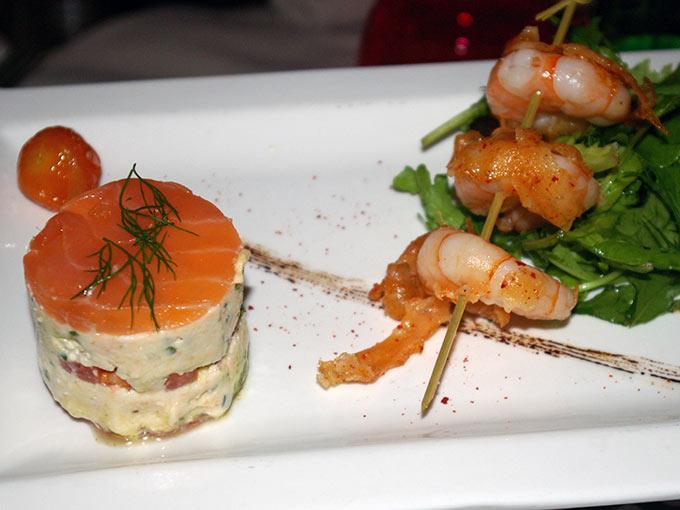 Table du 9 - shrimp starter