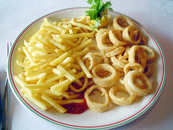 Ponte Vecchio - calamari and fries