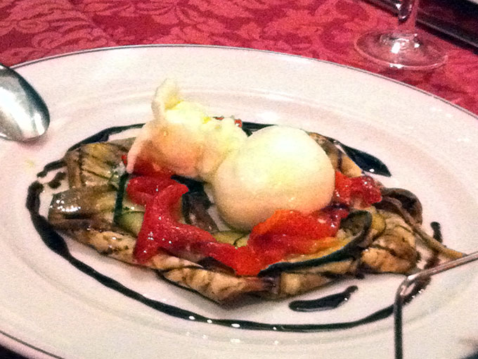 Il Mirto - burrata and grilled vegetables