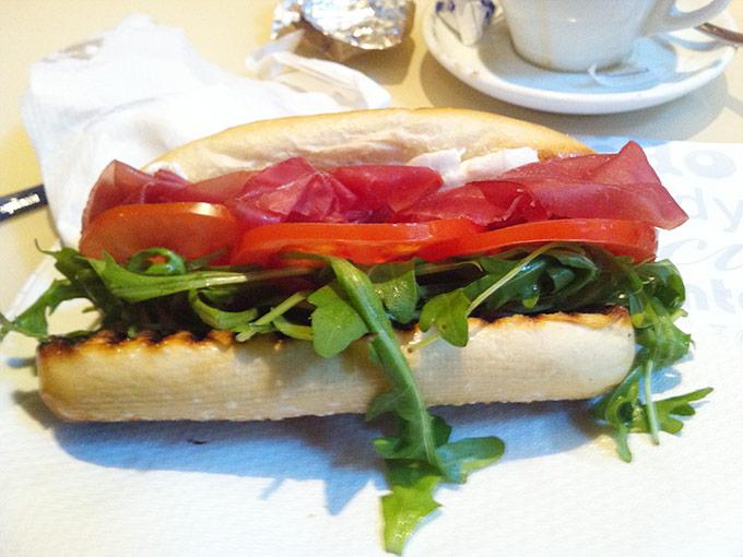 capocaccia - bresaola and goat cheese panini