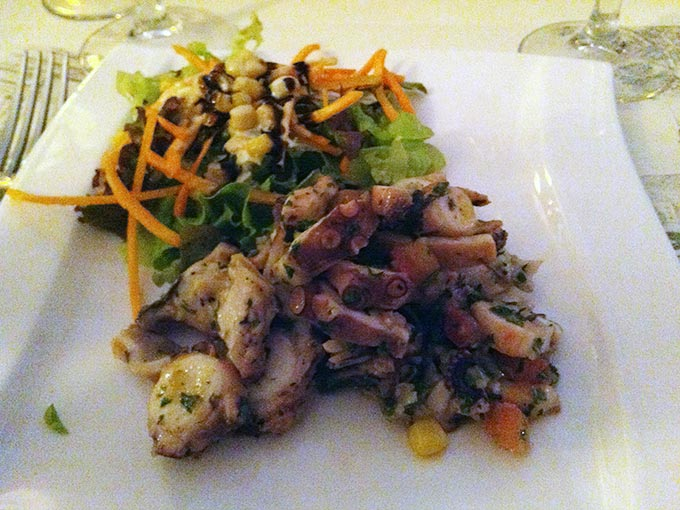 Auberge du Lion d'Or - octopus salad