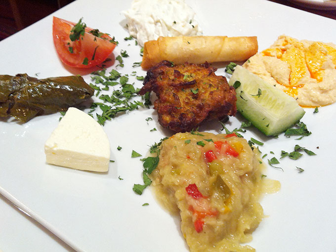 The Mediterranean Grill - assorted appetizers