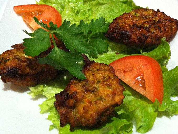 The Mediterranean Grill - zucchini fritters