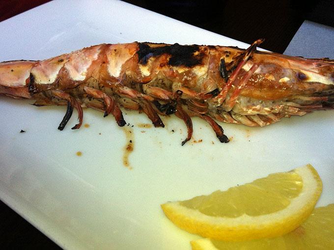 Pakupaku - grilled shrimp