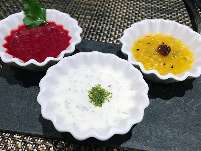 Kutchi restaurant - dips