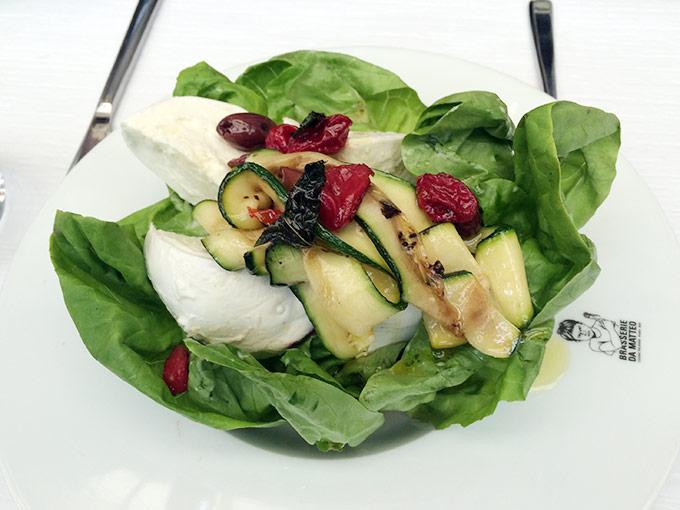Brasserie da Matteo - mozzarella and zucchini salad