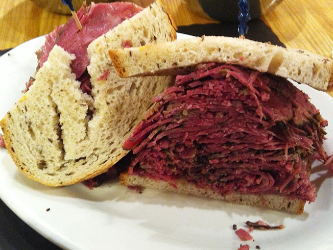 Sarge's Deli, NYC - pastrami on rye