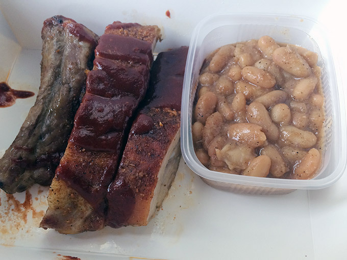 Funky BBQ - ribs and beans