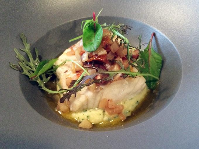 Café de la paix - fish and mashed potatoes