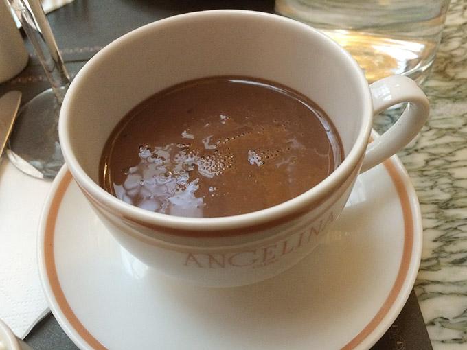 Café Angelina - hot chocolate