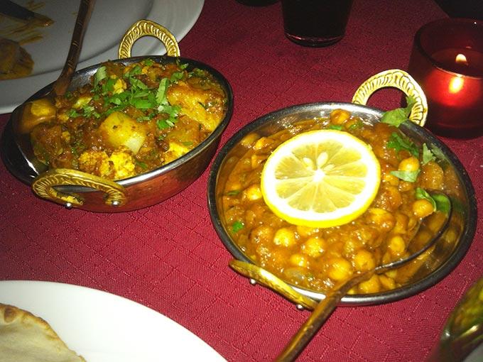 Little India - potato and cauliflower vegetarian dishes