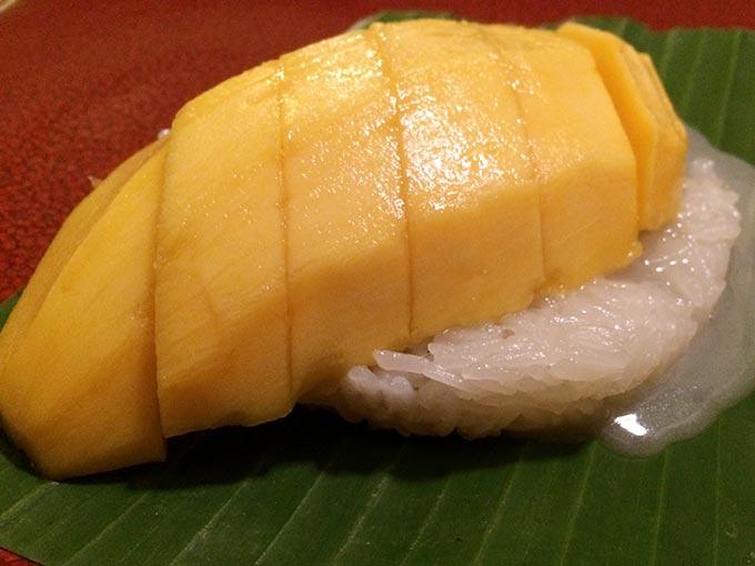Jeab Fine Cuisine Thai - sticky rice and mango