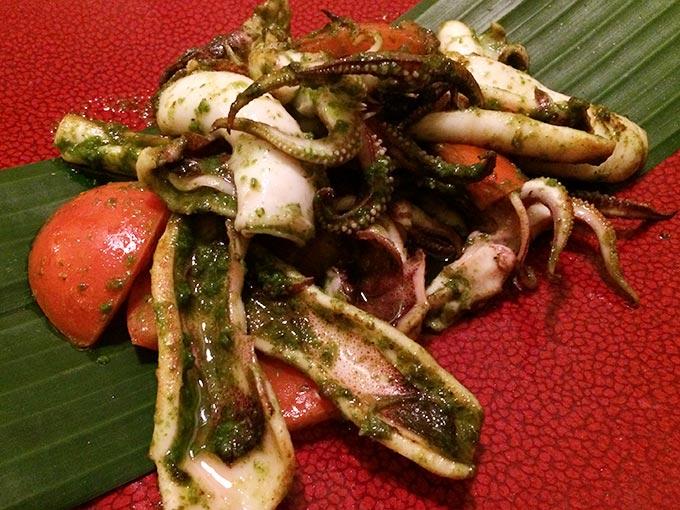 Jeab Fine Cuisine Thai - octopus
