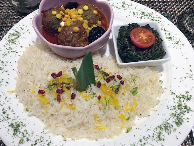 Kutchi restaurant - main dish