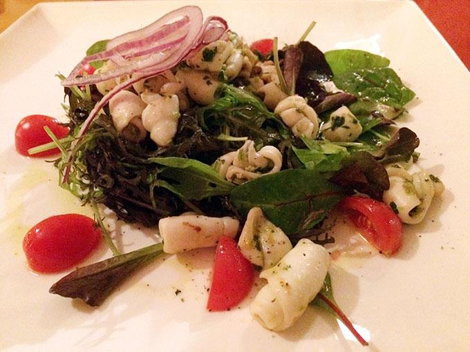 Café des Sources - octopus salad