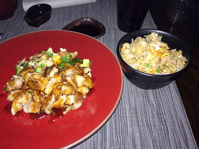 kamome -rice and chicken teriyaki