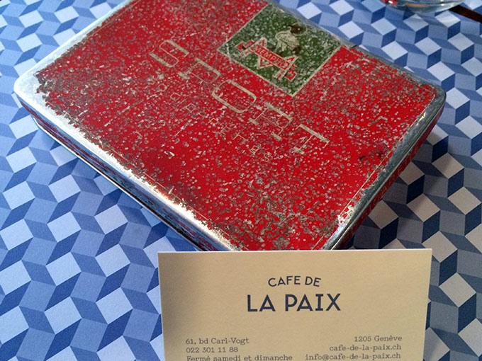 Café de la paix - cigarette box