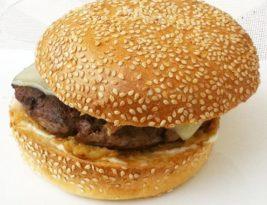 A burger at Kempinski