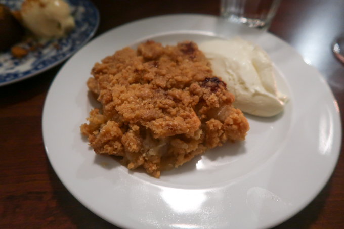 Bombar restaurant - apple crumble