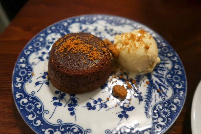 Bombar restaurant - chocolate lava cake