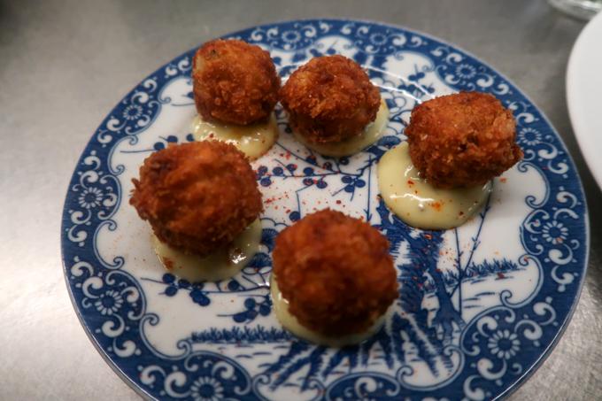 Bombar restaurant - cod fritters