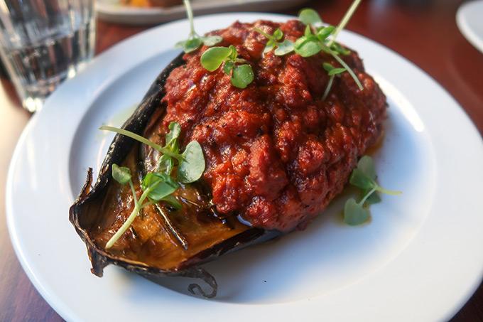 Bombar restaurant - eggplant ragu