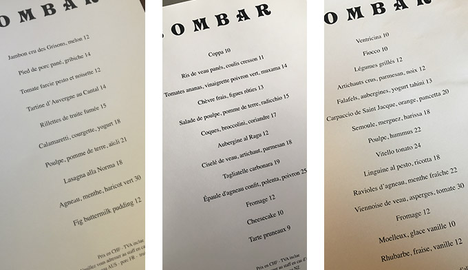 Bombar Menu - it's bomb!